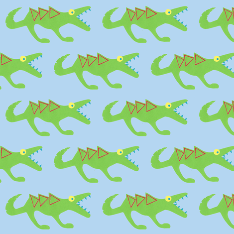 crocosaur raar fabric by fabricfaeries on Spoonflower - custom fabric
