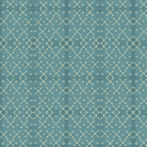Vintage cross stitch look in Robin's Egg Blue fabric by robin006 on Spoonflower - custom fabric
