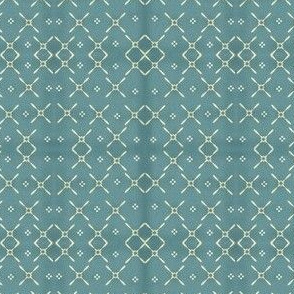 Vintage cross stitch look in Robin's Egg Blue
