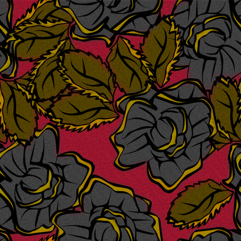 50s_Floral - New York Loves a Lady fabric by glimmericks on Spoonflower - custom fabric