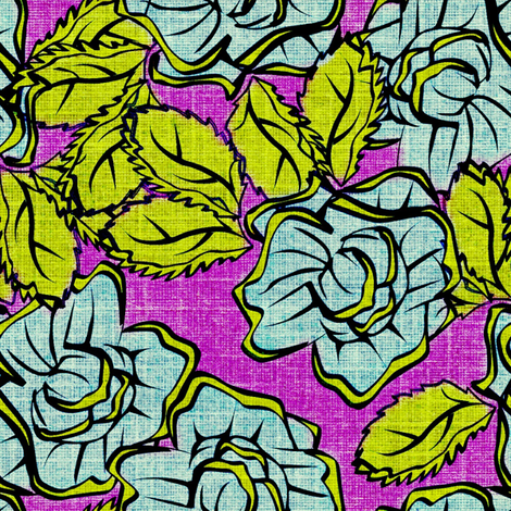 50s Floral - Miami Tarts  fabric by glimmericks on Spoonflower - custom fabric