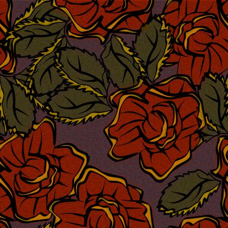 50s_Floral - St. Louis Classy Chicks fabric by glimmericks on Spoonflower - custom fabric