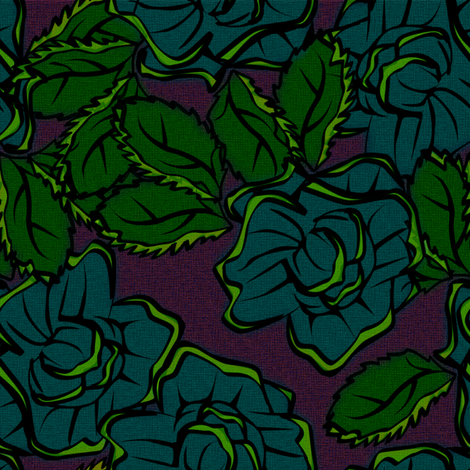 50s Floral - New Orleans Jazzy Blues Singers fabric by glimmericks on Spoonflower - custom fabric