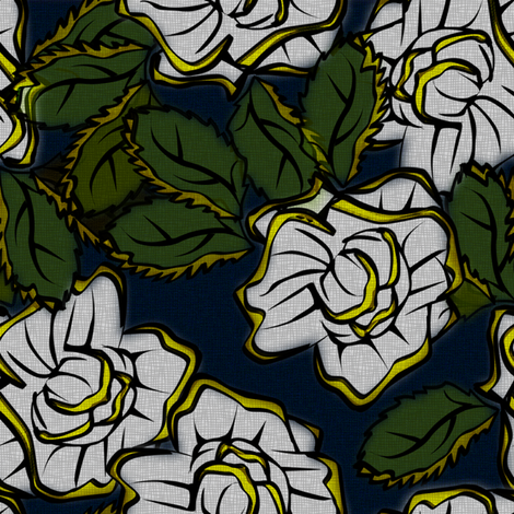 50s_Floral - Memphis Tender Mercies fabric by glimmericks on Spoonflower - custom fabric