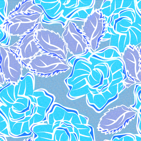 50s_Floral - Los Angeles Light and Lovelies fabric by glimmericks on Spoonflower - custom fabric