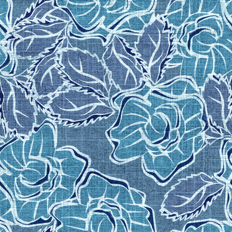 50s_Floral - Seattle Stormy Sirens fabric by glimmericks on Spoonflower - custom fabric