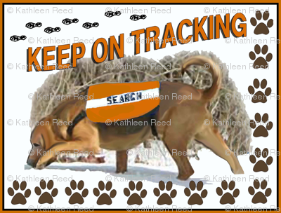tracking bloodhound fabric