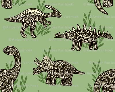 Swirly Dinosaurs