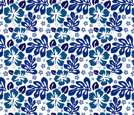 Island Swim blue fabric by flyingfish on Spoonflower - custom fabric