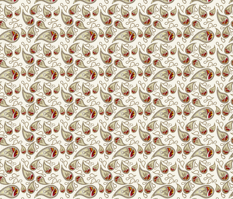 Tongues of Fire Paisley fabric by flyingfish on Spoonflower - custom fabric