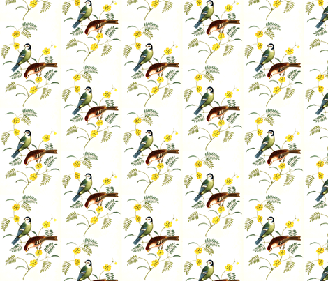 Birdsong fabric by flyingfish on Spoonflower - custom fabric