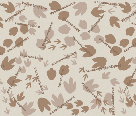 Everybody Do The Dinosaur fabric by robyriker on Spoonflower - custom fabric