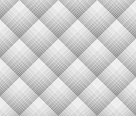 loglog graph X plaid : grey fabric by sef on Spoonflower - custom fabric