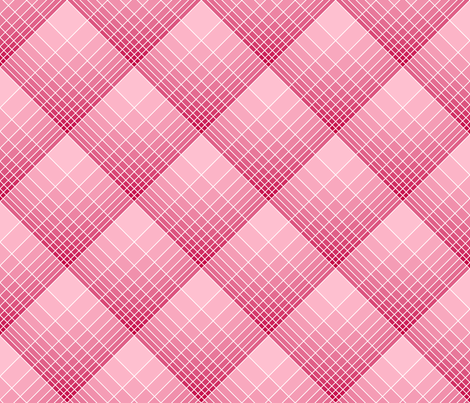 loglog graph X plaid fabric by sef on Spoonflower - custom fabric