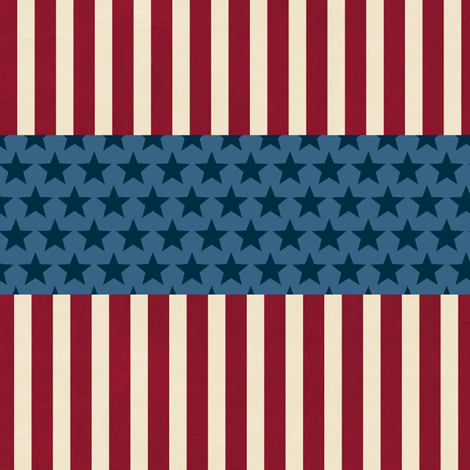 America stars and stripes fabric by tumbling_turtle on Spoonflower - custom fabric