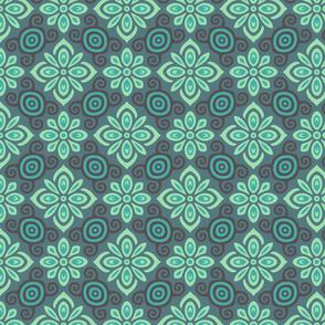 Ornamental green flowers