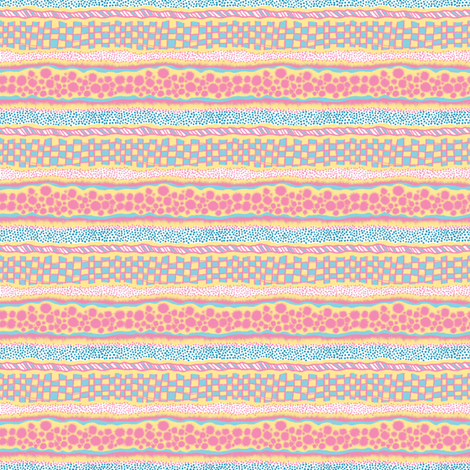 Harlequin Darlings: Horizontal Stripes fabric by tallulahdahling on Spoonflower - custom fabric
