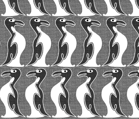 The Extinct Great Auk fabric by creative_merritt on Spoonflower - custom fabric