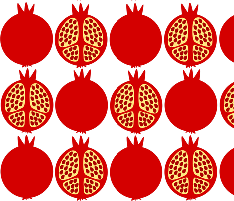 Red Pomegranates fabric by lilope on Spoonflower - custom fabric