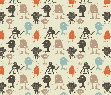 funky monsters fabric by anastasiia-ku on Spoonflower - custom fabric