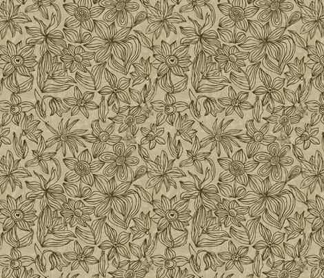 Hand drawn flower pattern fabric by anastasiia-ku on Spoonflower - custom fabric