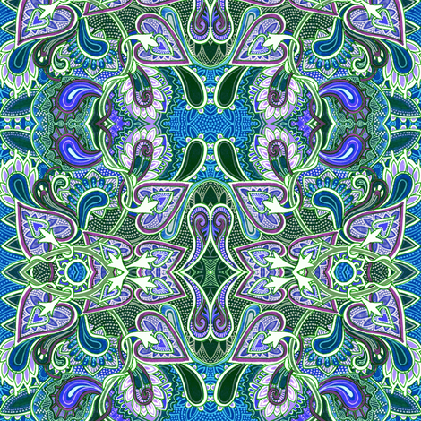 Paisley Swim fabric by edsel2084 on Spoonflower - custom fabric
