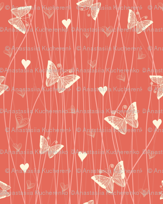butterflies and hearts