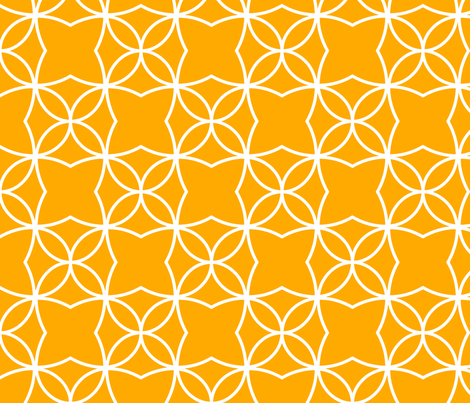 Otava (Orange) fabric by pattern_bakery on Spoonflower - custom fabric