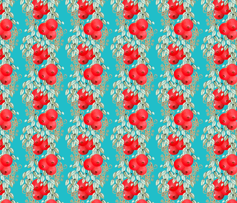 Pomegranate Stripe fabric by joanmclemore on Spoonflower - custom fabric