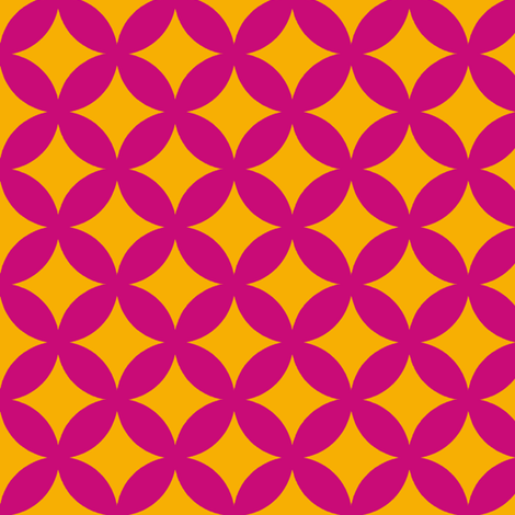 tessellate in mauve and gold fabric by littlemissquarter on Spoonflower - custom fabric