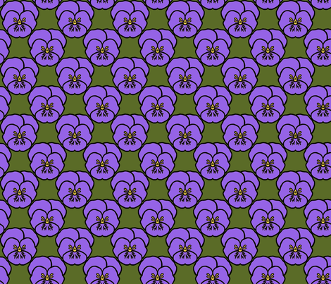 Pansy_purple fabric by adranre on Spoonflower - custom fabric