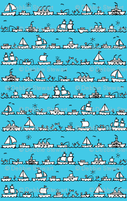 mini fishing boats - color me in