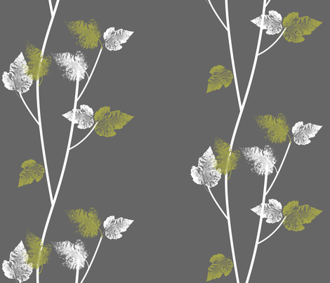 modernatural 3 - eco green fabric by thecalvarium on Spoonflower - custom fabric
