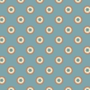 Clay Flowers on Blue