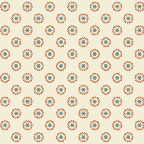 Clay Flowers on Cream fabric by stitchwerxdesigns on Spoonflower - custom fabric