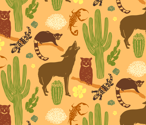 Sonoran Desert fabric by rheablah on Spoonflower - custom fabric