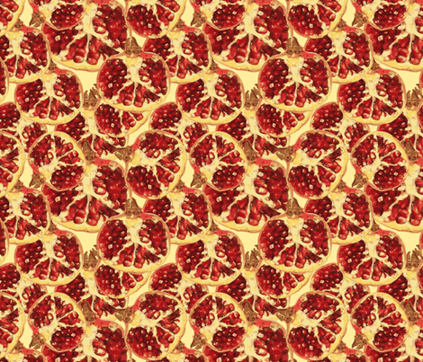 pomegranate 2 fabric by kociara on Spoonflower - custom fabric