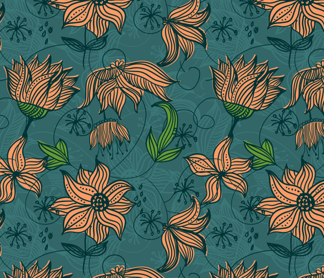 whimsical flowers fabric by anastasiia-ku on Spoonflower - custom fabric