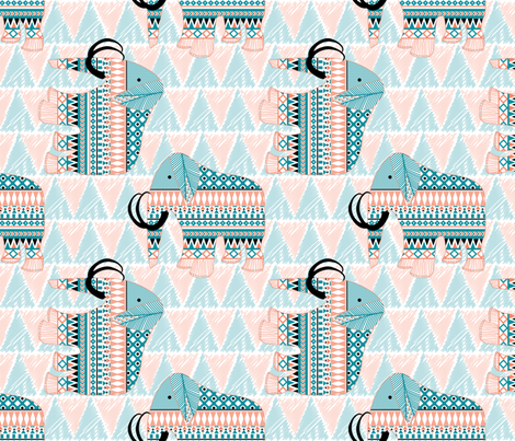 Tribal Mammoth fabric by demigoutte on Spoonflower - custom fabric
