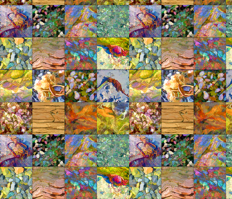 Beach_Treasures-a Cheater Quilt fabric by koalalady on Spoonflower - custom fabric