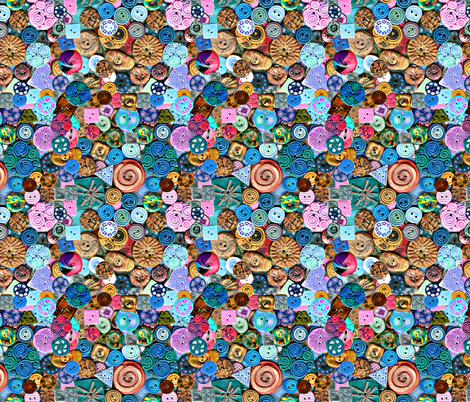 Buttons_in_polymer clay fabric by koalalady on Spoonflower - custom fabric