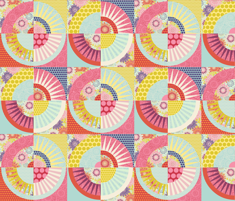 geo springtime small fabric by scrummy on Spoonflower - custom fabric
