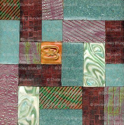polymer clay  tile,