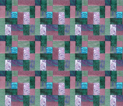 polymer clay  tile green and pink fabric by koalalady on Spoonflower - custom fabric