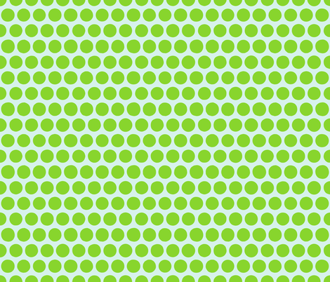 aril pom spot green fabric by scrummy on Spoonflower - custom fabric