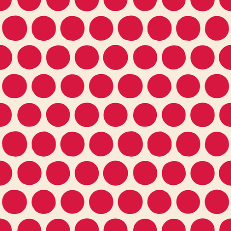 aril pom spot red fabric by scrummy on Spoonflower - custom fabric