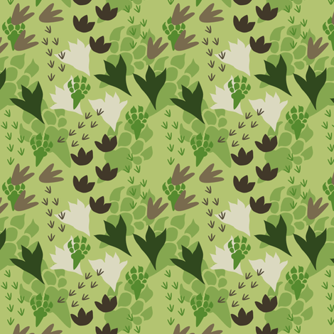 Dinosaur Tracks fabric by bojudesigns on Spoonflower - custom fabric