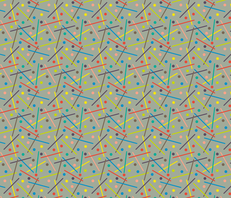Click Clang Crash! fabric by modgeek on Spoonflower - custom fabric