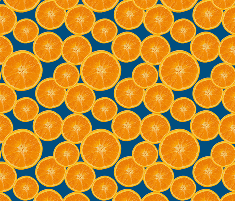 orange navy fabric by kociara on Spoonflower - custom fabric