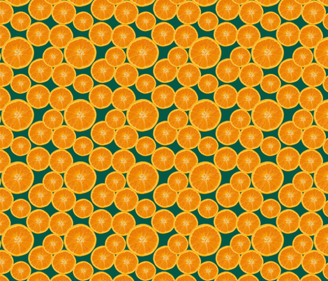 orange green fabric by kociara on Spoonflower - custom fabric